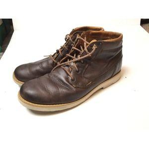Teva Durban Bison Leather Work Boots Mens US 10.5